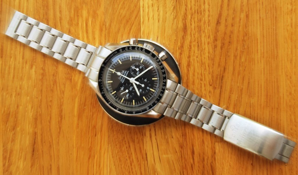 UK watchmaker showing service of Omega Speedmaster