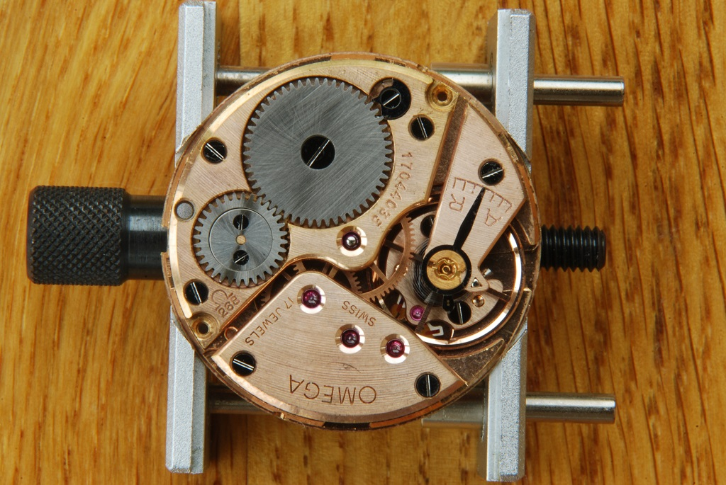 Omega Seamaster 30 repair and service - top of movement
